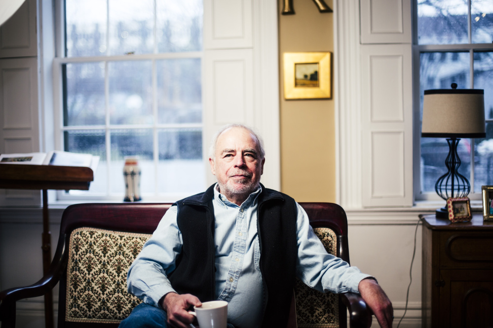 Richard Russo at his home in Portland.