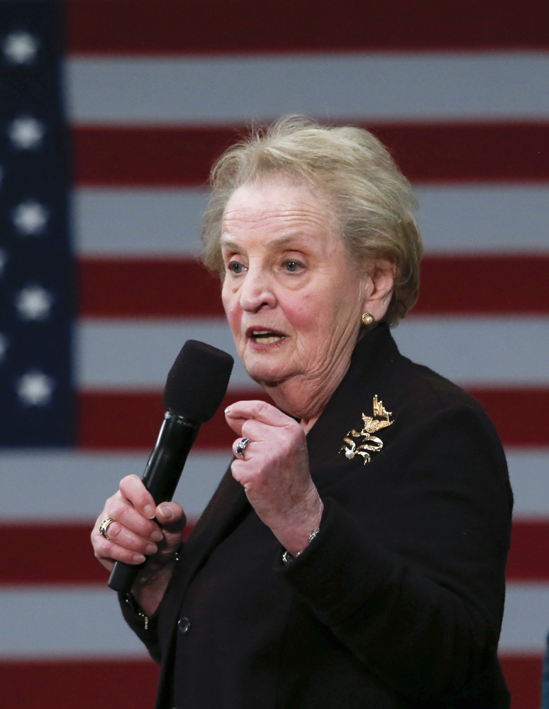 """Former U.S. Secretary of State Madeleine Albright said """"There's a special place in hell for women who don't support other women,"""" while supporting Hillary Clinton."""