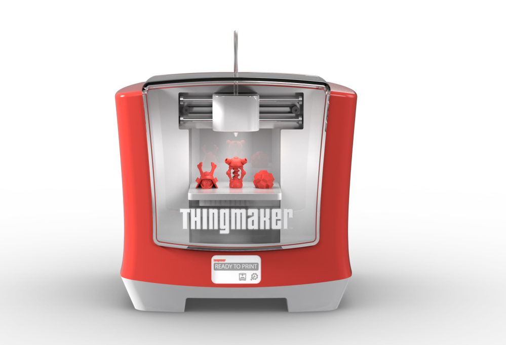 The ThingMaker, created through a partnership with Autodesk Inc., a 3D design software company, lets kids use an app to design items such as action figures and jewelry, sending their designs to the ThingMaker to print in plastic.