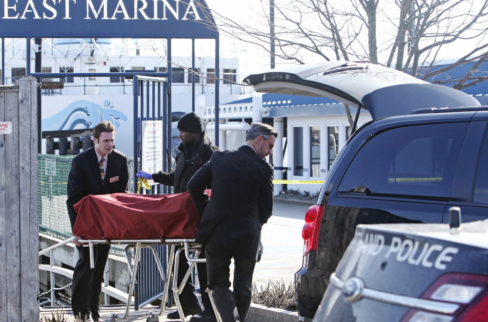 The body of James Dyer, missing since New Year's Day, was found off the docks at DiMillo's East Marina on Saturday.