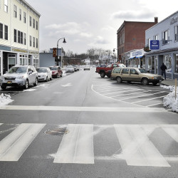 Melanie Wiker, a resident of D Street, is leading a movement to get rid of the one-way on Ocean Street near her home in South Portland.