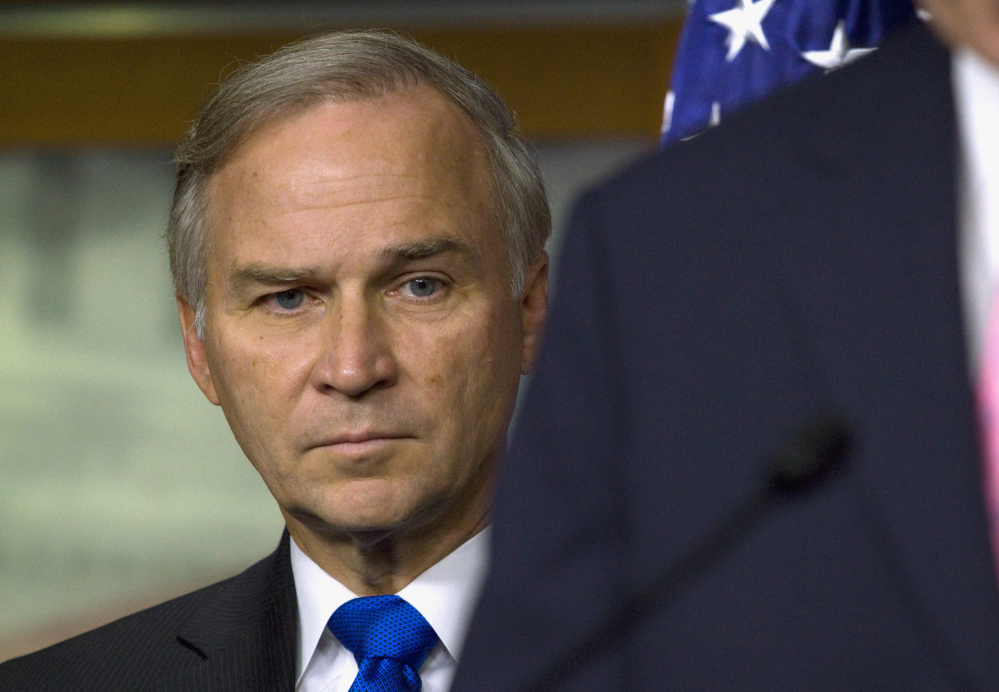 In this July 30, 2011 file photo, Rep. Randy Forbes, R-Va., chairman of the House subcommittee that oversees Navy and Marine Corps programs, is seen at a news conference on Capitol Hill in Washington.
