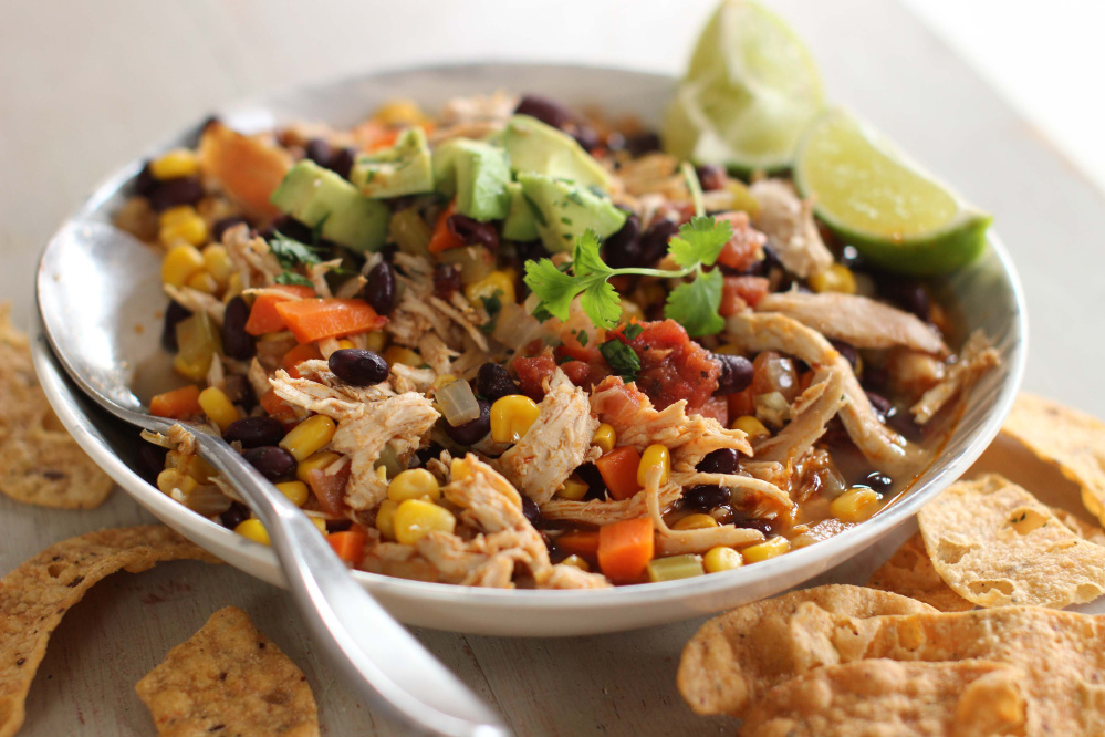 Mexican chicken stew is a healthy and quick dinner gem.  The Associated Press