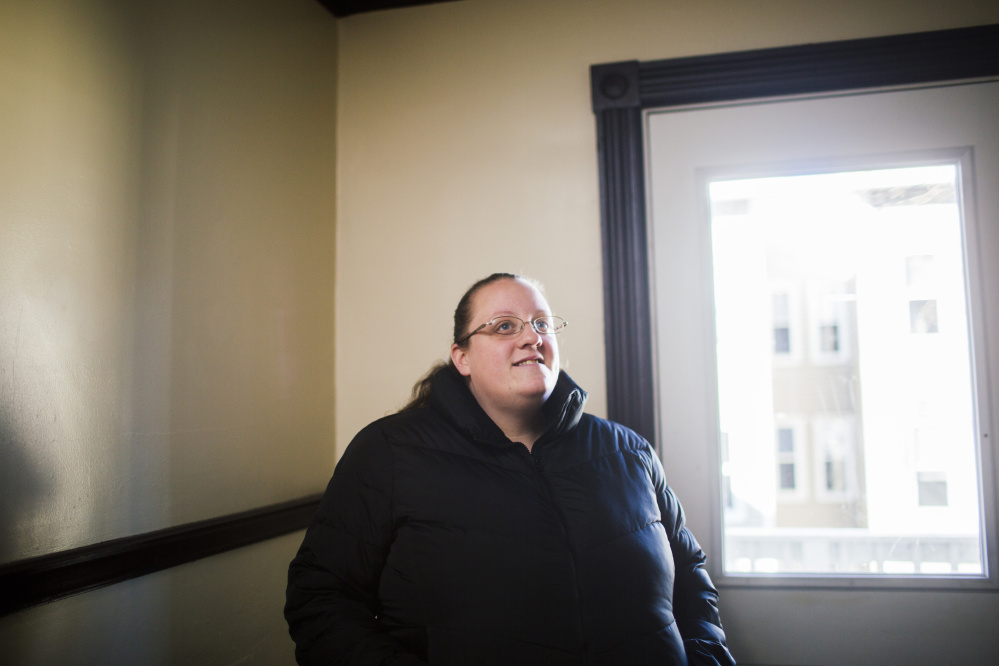 A mother of two, Cheyenne Donovan, 29, says the recent sale of the apartment building where she lives in Portland makes her nervous. All tenants were put on month-to-month leases.