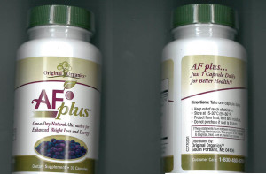 A Scarborough couple have agreed to stop making false claims about weight loss and diet supplements that they were selling, including a product called AF Plus.