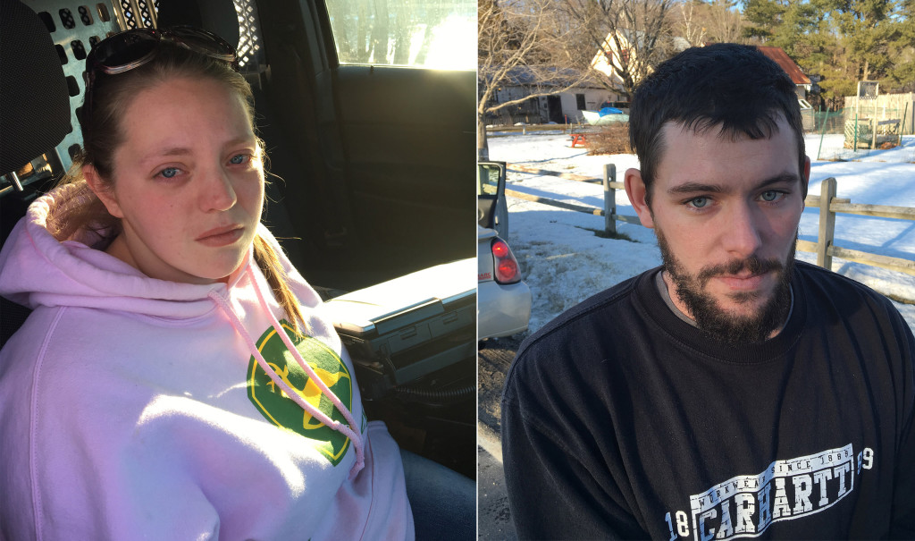Abigale Hall and Shawn Swenson. Investigators were led to Swenson after he allegedly tried to pawn stolen jewelry.