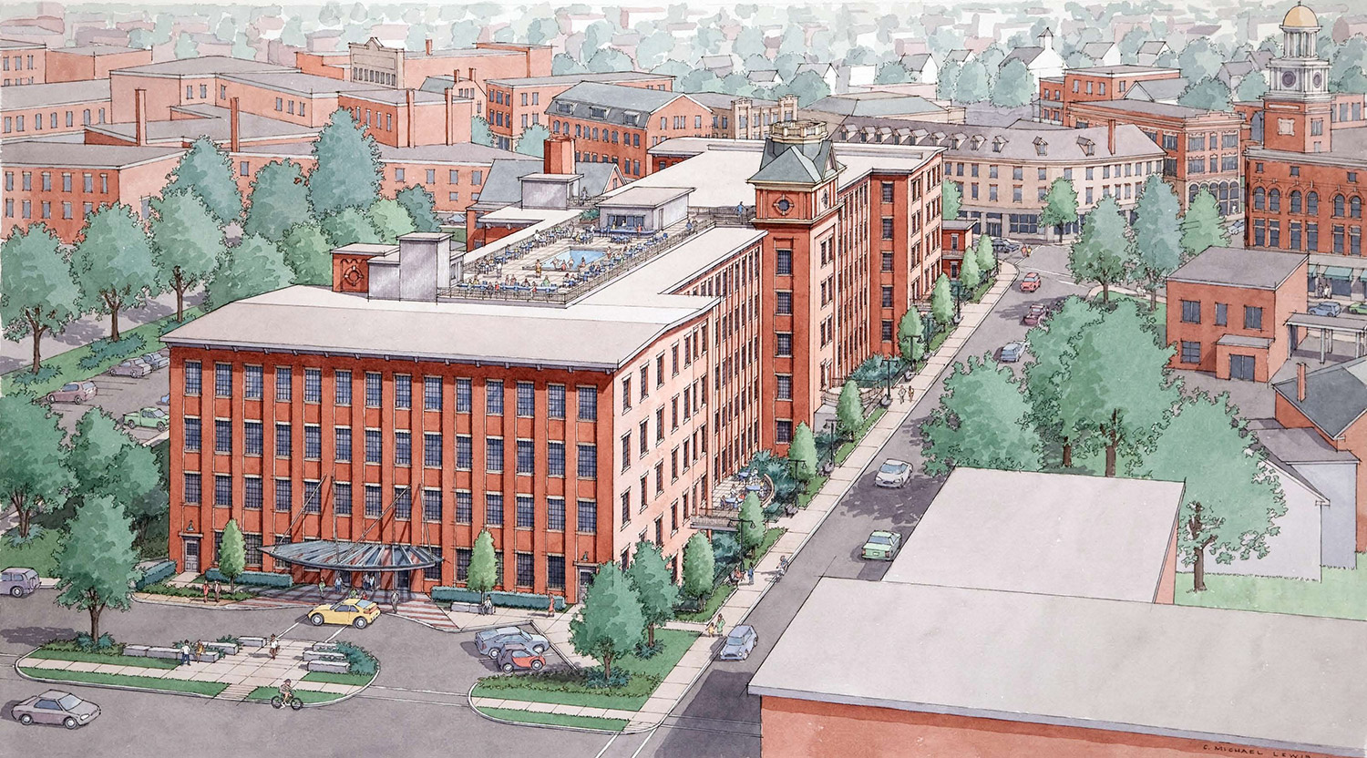 The development of Biddeford's Lincoln Mill will be expanded to include 181 market-rate residential apartments. Courtesy photo