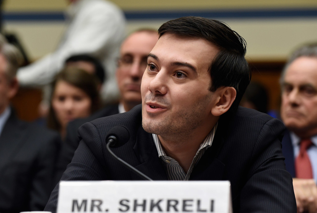 Martin Shkreli speaks at Thursday's hearing by the House Committee on Oversight and Reform on his former company's decision to raise the price of a life-saving medicine. He refused to testify as lawmakers excoriated him. The Associated Press