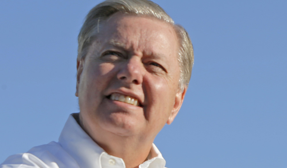 U.S. Sen. Lindsey Graham declares himself the Dr. Jack Kevorkian of the Republican presidential campaign, referring to the euthanasia activist who died in 2011. Reuters