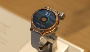 """The Huawei watch """"Elegant"""" will be the Chinese company's entrant into the smartwatch field. The Associated Press"""