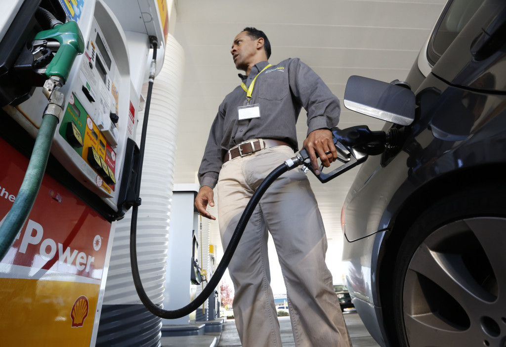 The last federal gas tax hike was approved in 1993, under President Bill Clinton, when the levy was raised by 4.3 cents as part of a deficit-reduction package.  2014 AP file photo