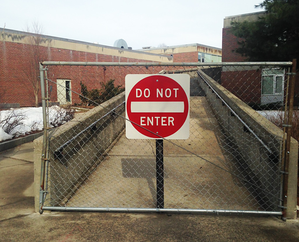 Ramp at West End elementary school in Portland is closed because of safety concerns. Courtesy photo.