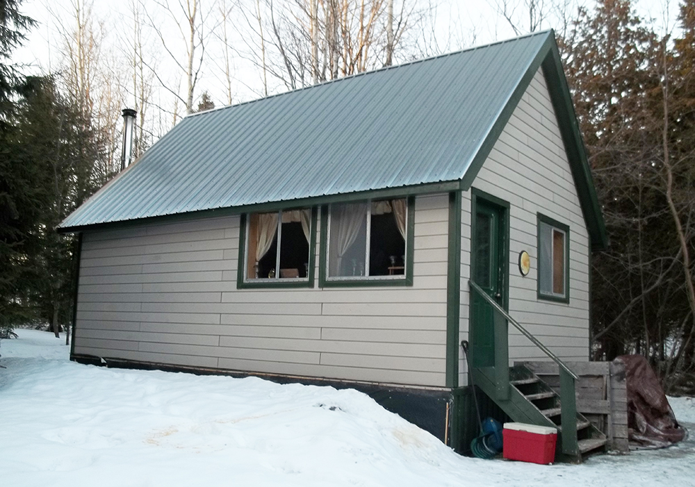 MDEA agents conducting a bail check arrested the suspects at this cabin in Ludlow, outside Houlton. Maine Department of Public Safety photo