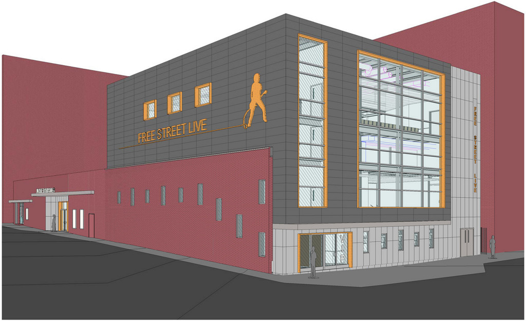 The two-story concert and events venue would replace Asylum and get a new name: Free Street Live.