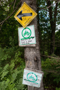Ever changing logging roads and poorly marked signage can make travel to Bible Point, near Island Falls, difficult.