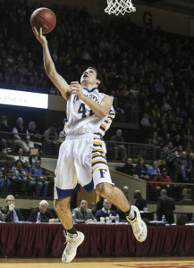 Matt Wulbrecht did his part in the state final to make sure Falmouth walked away with the Class A title, scoring 14 points in the Yachtsmen's 59-28 win.