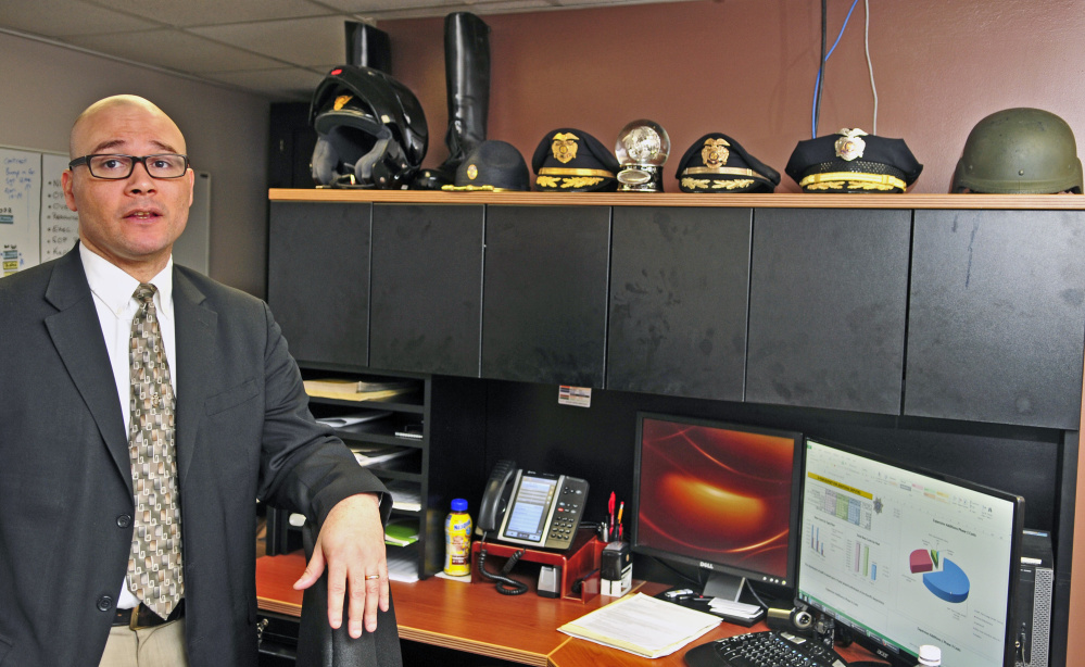 Interim Chief Deputy Bill Johnson, of the Kennebec County Sheriff's Office, shown Wednesday in his Augusta office, is the second person whose name Kennebec County Democrats have submitted to Gov. Paul LePage for possible appointment as interim sheriff until the November election.