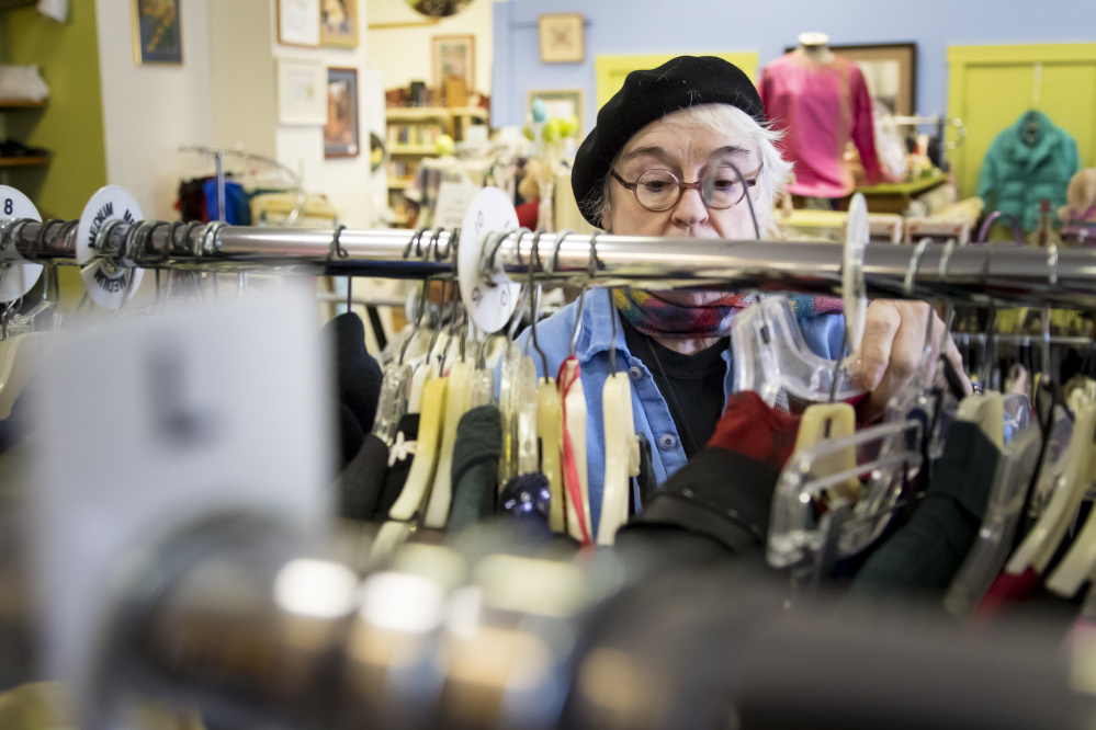 Portland's Janet Gunn is one of many senior citizens who relies on Good Cause Thrift Shop for bargain clothing and housewares.