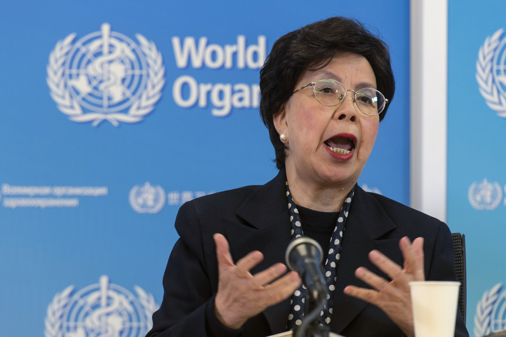 China's Margaret Chan, General Director of the World Health Organization, WHO, speaks during a press conference about a second meeting of the Zika Virus Infection, at the headquarters of the World Health Organization in Geneva, Switzerland, Tuesday.