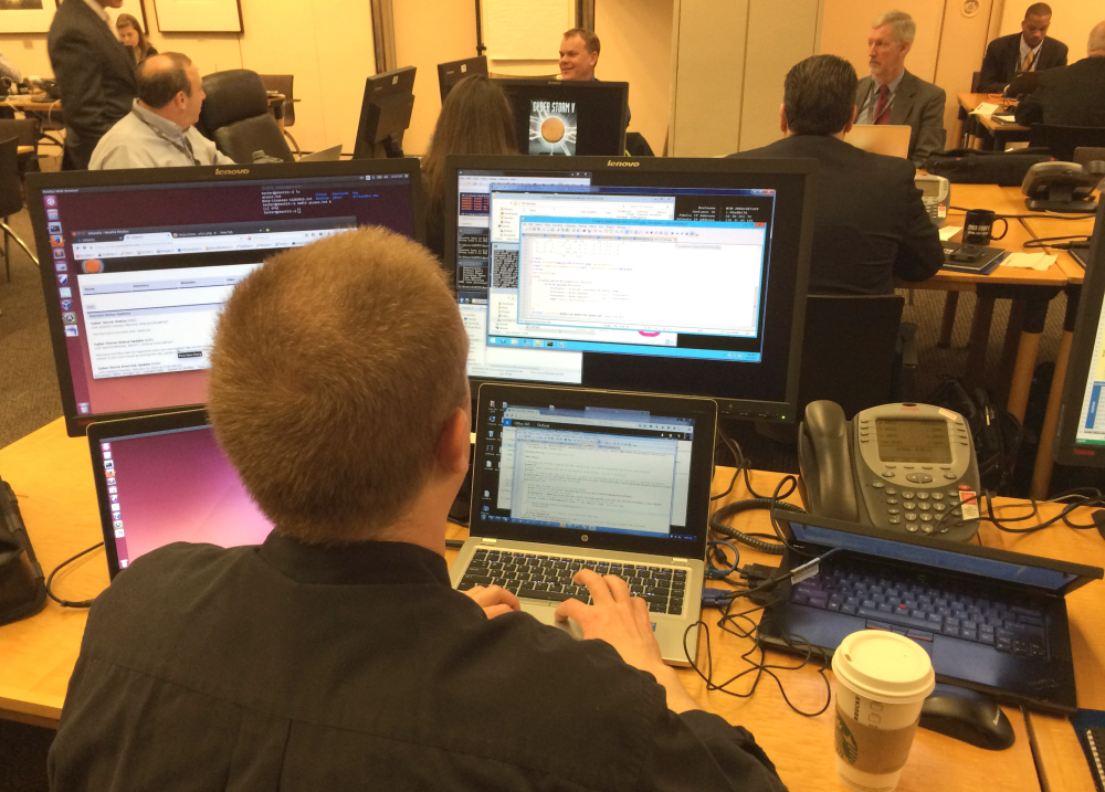 More than 1,100 cybersecurity professionals from government, health care firms, Internet service providers, phone companies and retail businesses are testing their ability to deal with a cyberattack, during a weeklong exercise.