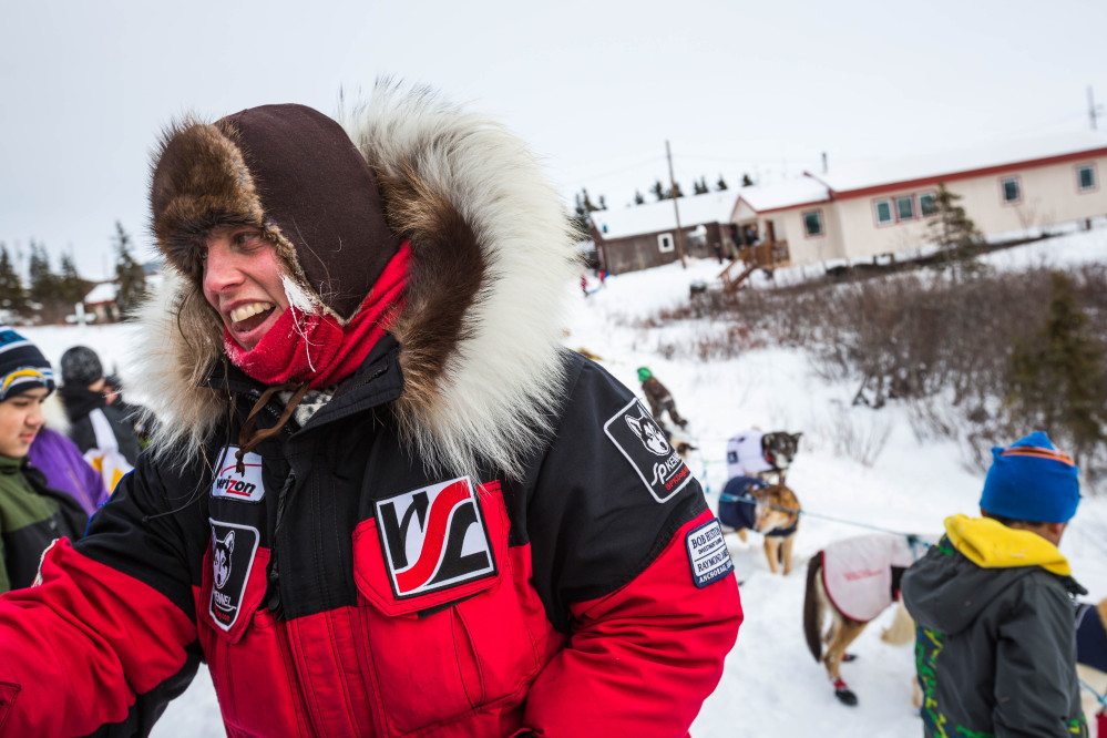 Aliy Zirkle, shown here, and fellow  musher Jeff King were attacked Saturday outside a village on the Yukon River a little more than halfway into the 1,000-mile race to Nome, Alaska. The Associated Press