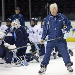 Red Gendron has coached the Black Bears hockey team since 2013; his contract keeps him in the job through 2019.