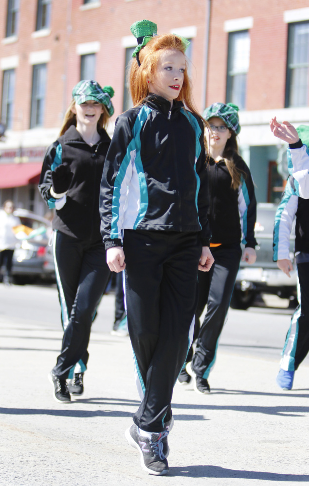 PORTLAND, ME - MARCH 13: Members of the Stillson Irish Dancers entertain the crowds at the St. Patrick's Day parade in Portland. (Photo by Jill Brady/Staff Photographer)