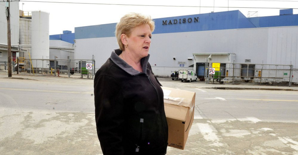 """""""It's going to be kind of a ghost town,"""" Lori Christopher said of the planned closing of the Madison paper mill, where she has been a longtime employee."""