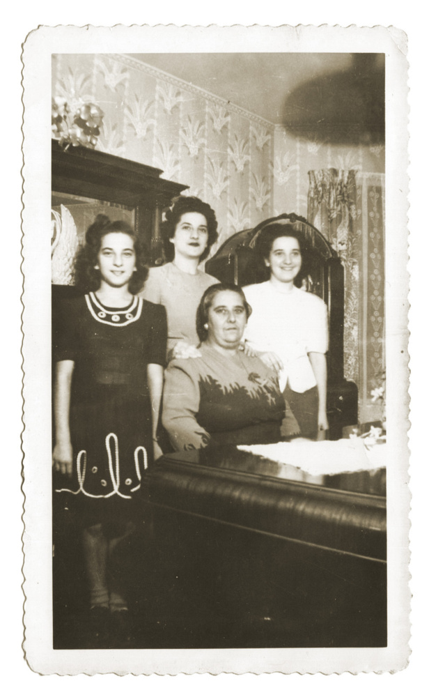 The DiFolco women – the author's mother, grandmother and aunts – are shown at the family home in Providence, R.I., in the 1940s. Seated is Anna, and her three daughters, from left, Anna, Sophie and Maria.