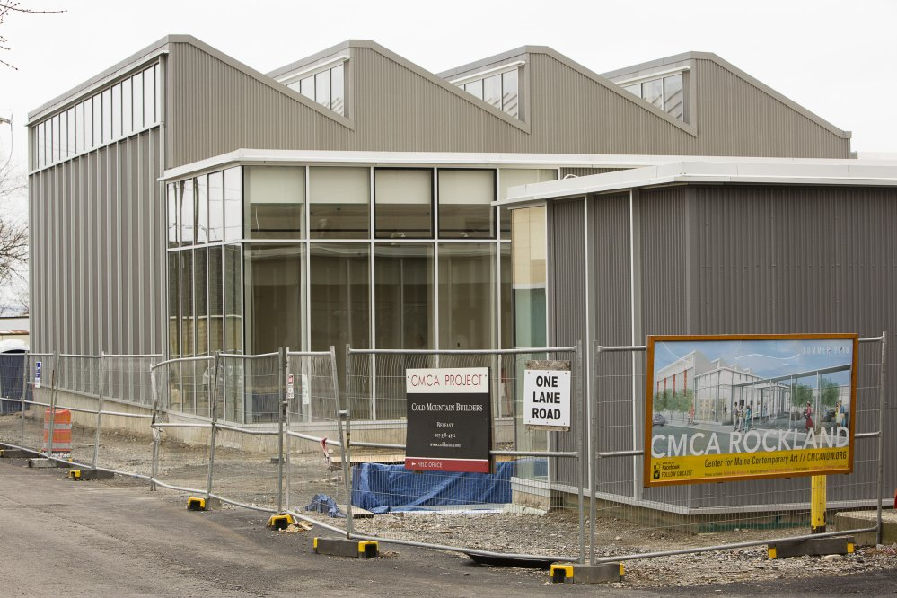 The new Center for Maine Contemporary Art building in downtown Rockland, still under construction, is scheduled to open in June.