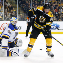 The Boston Bruins are battling for a playoff spot and Matt Beleskey is doing his part – including blocking shots and  being a pest in front of the net –  to help them secure it.