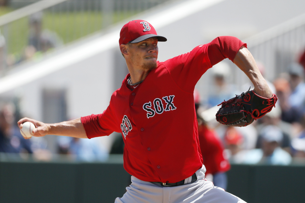 Clay Buchholz was pleased that his work on a two-seamer between starts paid off. He's ready for the season after allowing two hits and two walks in four innings for the Boston Red Sox. He also gave up a solo home run.