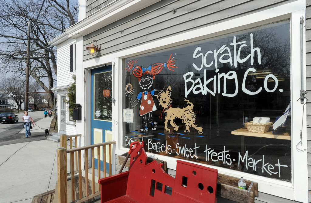 Scratch Baking Co. won't change anything at its shop in Williard Square in South Portland, beyond moving out its bagel and bread baking. 2011 Press Herald file photo/John Patriquin