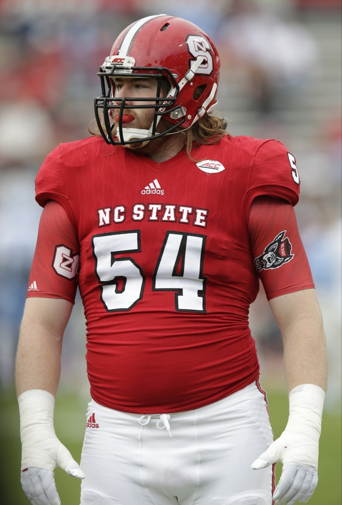 With their first pick in the third round, 78th overall, the Patriots selected offensive lineman Joe Thuney from North Carolina State. The Associated Press