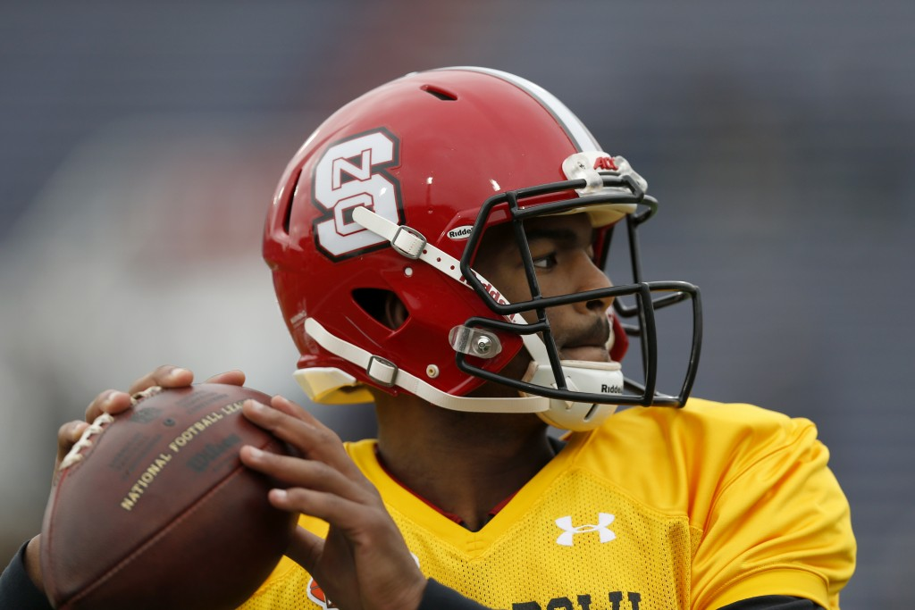 With their second pick in the third round, 91st overall, the Patriots selected QB Jacoby Brissett from North Carolina State. The Associated Press