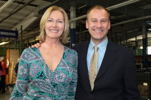 Susan Russell and Michael Hitz, both of Maine Home Connection, were part of the effort that raised $9,500 for Scarborough's Habitat for Humanity project.