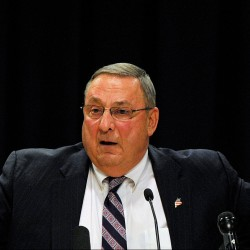 "Gov. Paul LePage said ""every single job"" that Maine will lose pays well above the state's median income, but he offered no details about the potential job losses. Shawn Patrick Ouellette/Staff Photographer"