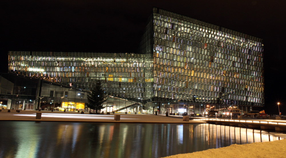 The Harpa concert hall in Reykjavik, Iceland, was mistakenly included in a tourism video for Rhode Island.