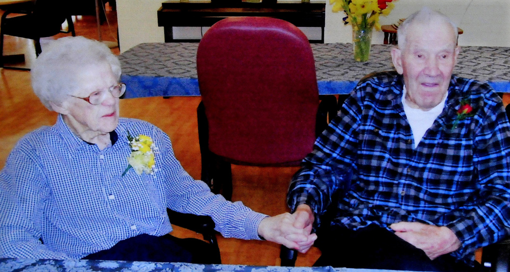A 2014 photograph of Virginia and Beecher Ladd, who were married for 77 years.