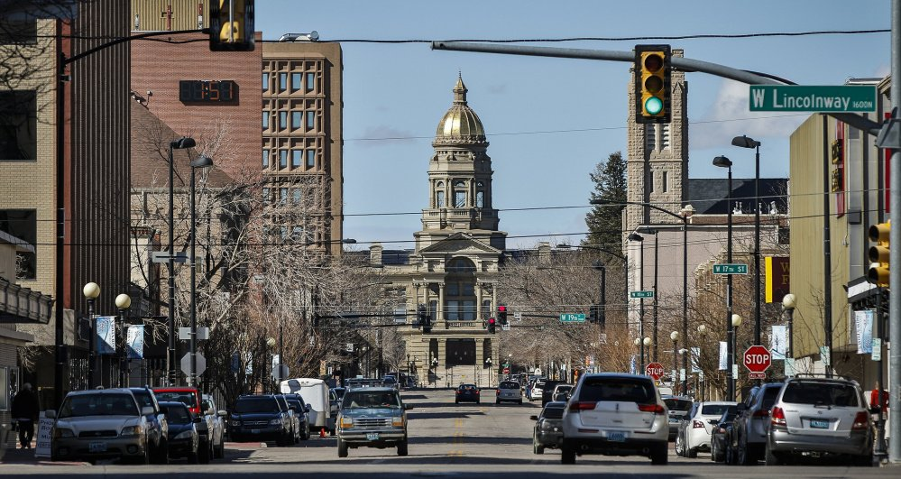 The Wyoming State Capitol is framed by a street in Cheyenne. The state is a popular location for offshore corporations that cloak assets there. One expert says the United States is one of the biggest tax havens in the world.