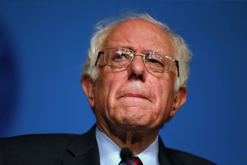 Democratic presidential candidate Sen. Bernie Sanders, I-Vt., speaks during American Federation of Labor and Congress of Industrial Organizations convention in Philadelphia Thursday.