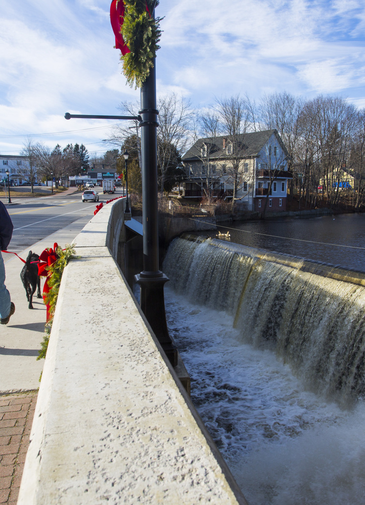 The Kesslen Dam in Kennebunk is one of three dams that produce 1.3 to 5 percent of Kennebunk Light and Power's energy.