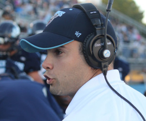 Joe Harasymiak, 29, was promoted in December to become Maine's head football coach after longtime coach Jack Cosgrove resigned.