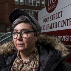 """Ann Spencer of Portland, a volunteer at the India Street health clinic, says ending programs and displacing patients """"is dubious and dangerous."""""""