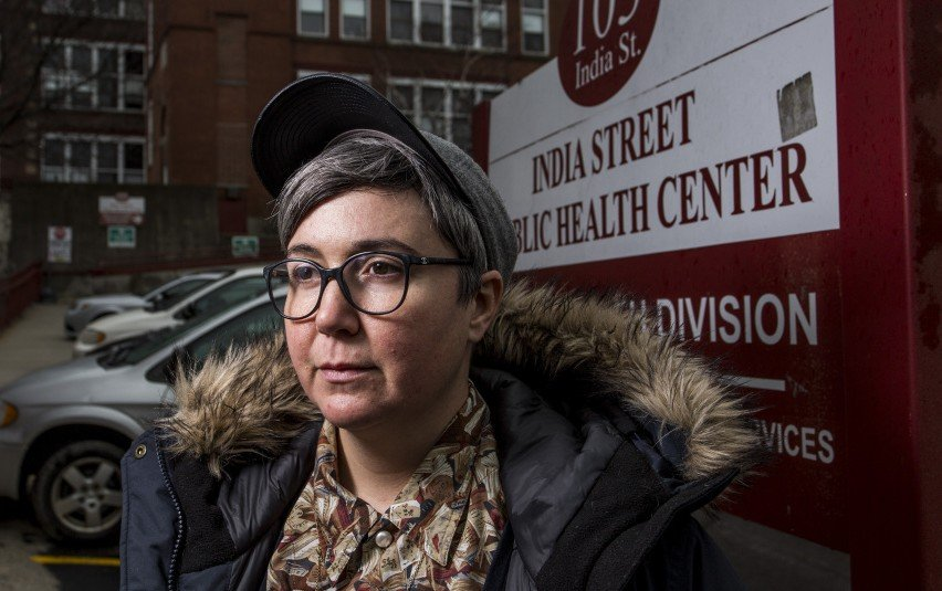 "Ann Spencer of Portland, a volunteer at the India Street health clinic, says ending programs and displacing patients ""is dubious and dangerous."""