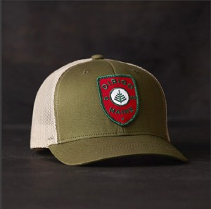 A baseball cap in the Dirigo line of products developed by Might & Main.