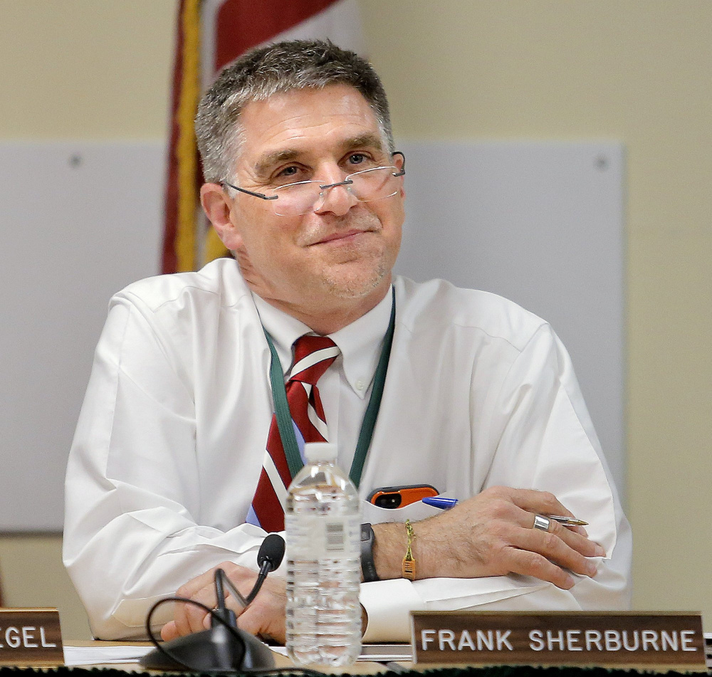 Frank Sherburne, superintendent of School Administrative District 6.