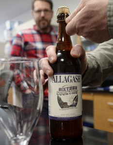 Sixteen Counties features oats from Linneus, wheat ground in Skowhegan, and barley malted in Mapleton and Lisbon Falls. Not too dark or too hoppy, it showcases the malt and grains. Shawn Patrick Ouellette/Staff Photographer