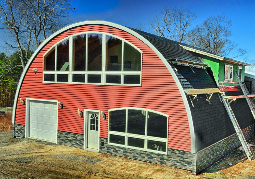 New home construction system thinks outside the box the for Cost to build shell of house