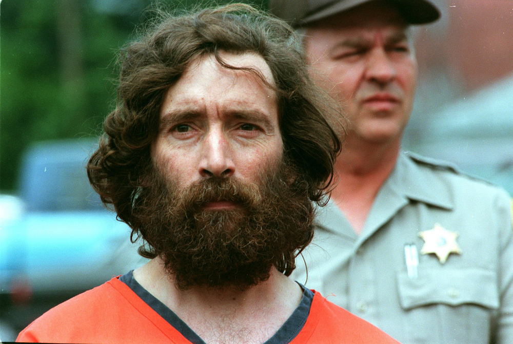 Donny Christen is lead into Skowhegan District Court in 1995 for a bail hearing after his arrest for possession of marijuana. Christen has been a longtime advocate of marijuana legalization in Maine and plans to hold a smoke-in on the steps of the Somerset County Courthouse Monday.